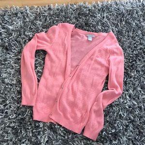 H&M Pink Cardigan Sweater